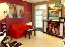 salon fryzjersko kosmetyczny wnętrze
